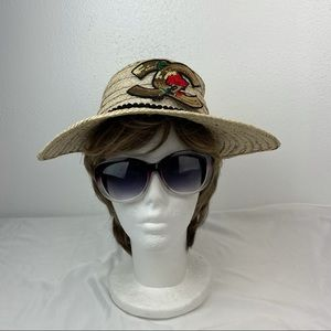 Straw Sunhat Embellished with Sequins